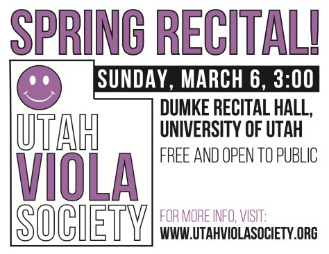 Viola Recital Flyer