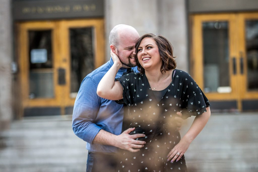 Ryan hender photography engagements downtown salt lake city exchange place