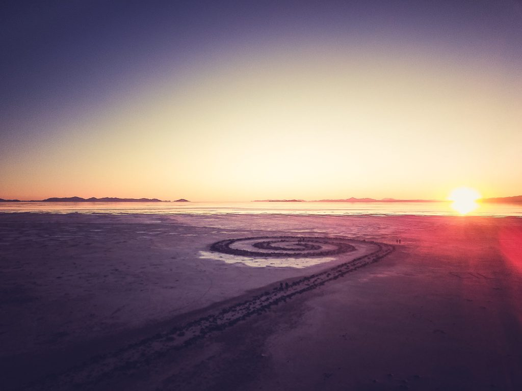 spiral jetty at the great salt lake photography utah