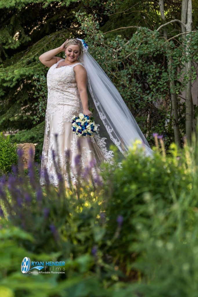 bride at heritage gardens sandy utah