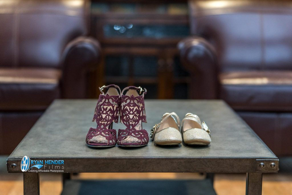 bride and bridesmaids shoes wedding photography