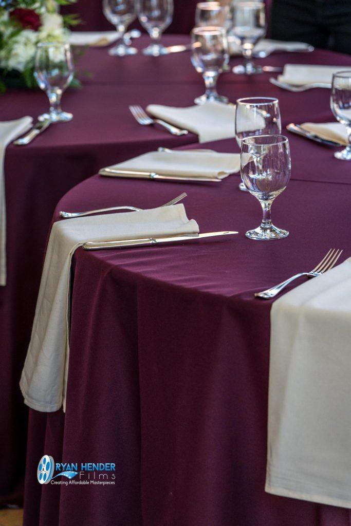 table setting wedding photography