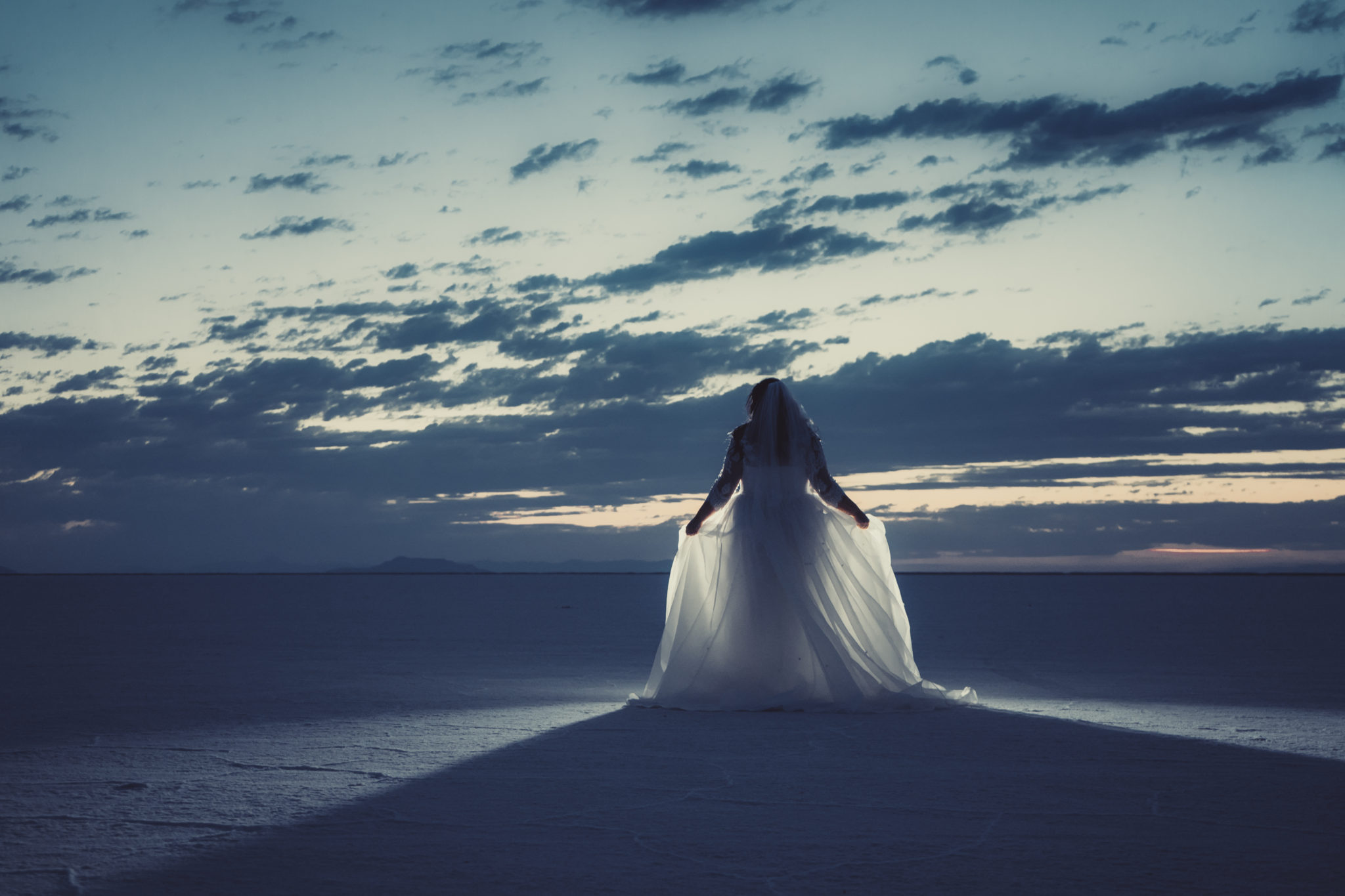 bonneville salt flats bridal photogrpahy