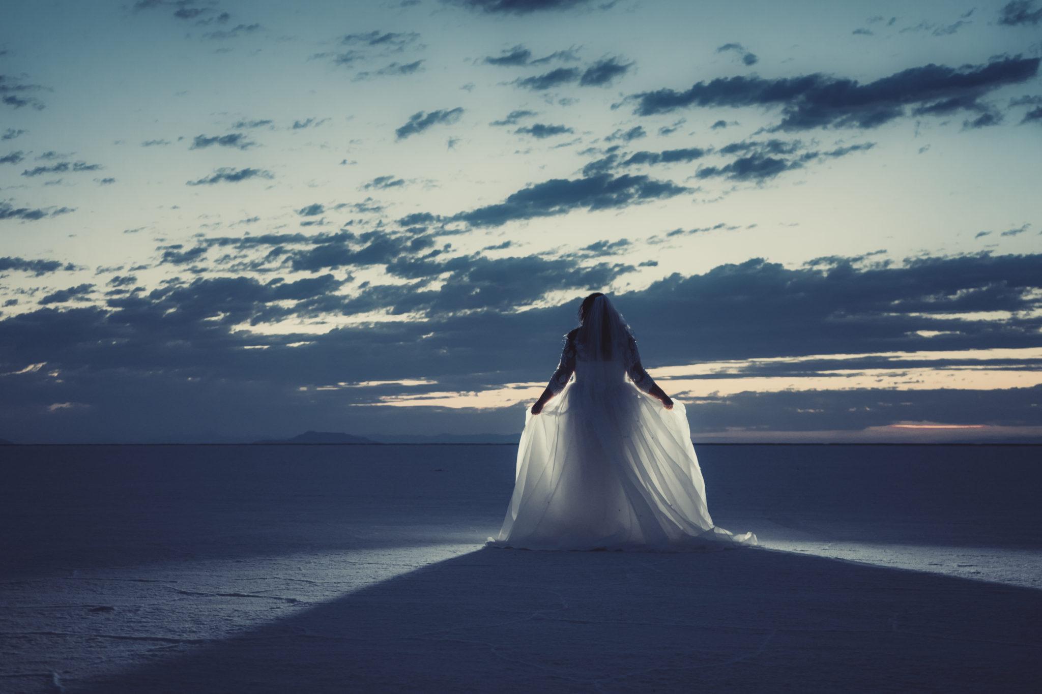 bonneville salt flats bridal photogrpahy