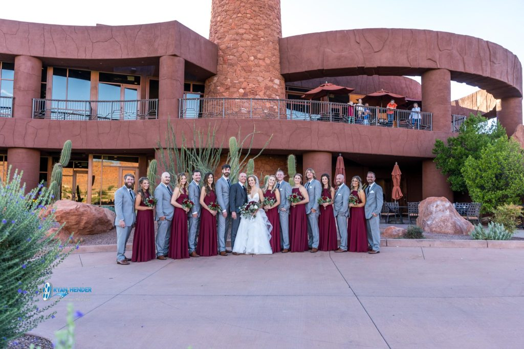 bridal party photography st George utah