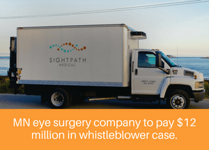 Minneapolis eye surgery company will pay $12 million in whistleblower case