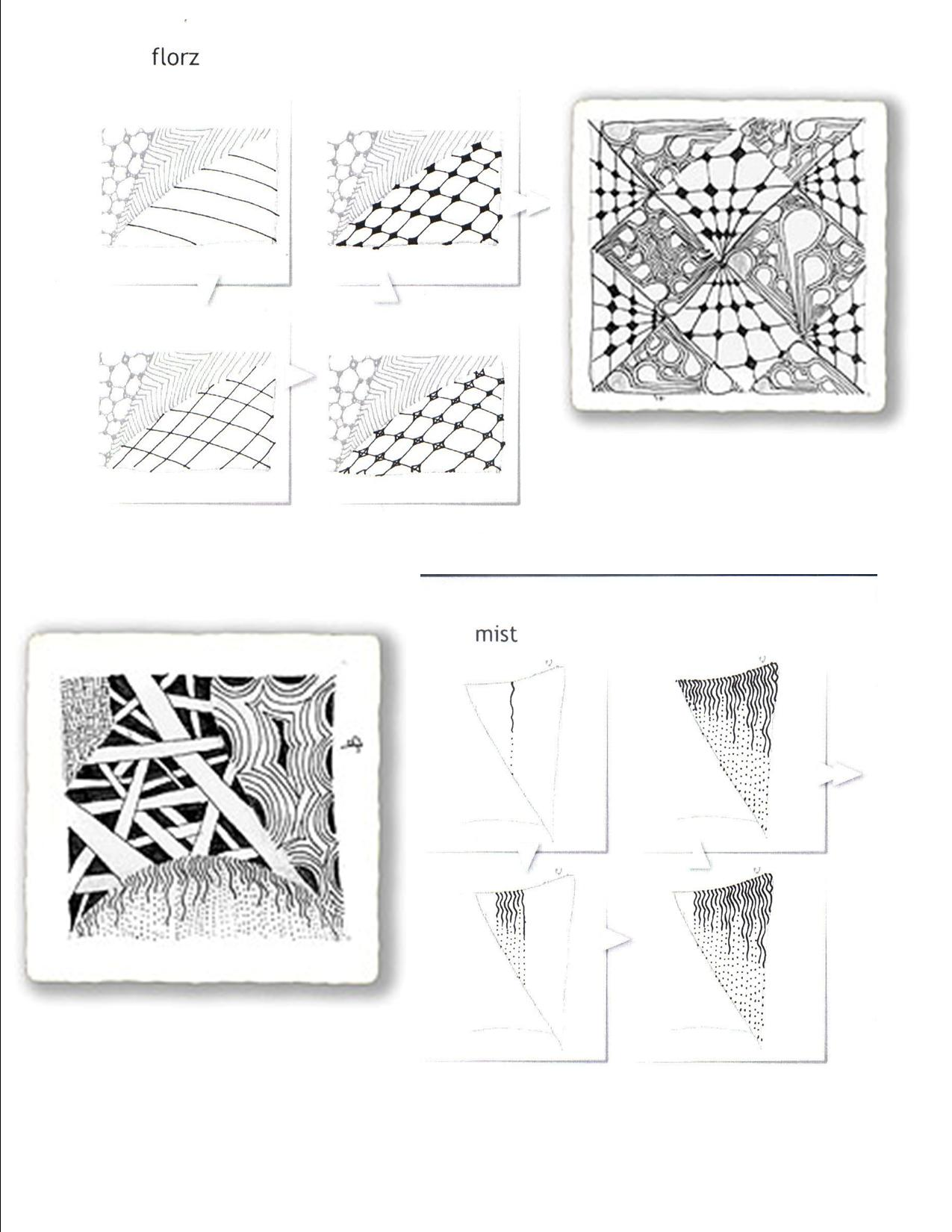 Zentangle Patterns Art Worksheet