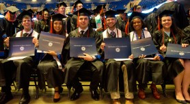 Graduates at UT Arlington's College of Engineering Commencement 2015