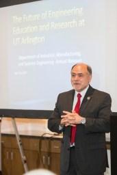 UT Arlington College of Engineering Dean, Dr. Khosrow Behbehani, gave the keynote speech