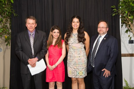 The Elinor Pape Endowed Scholarship Award Recipients: Nahal Sakhavand and Cynthia Rodriguez