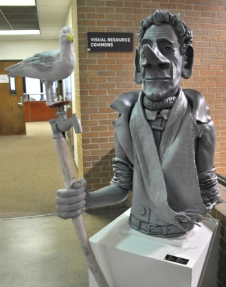 A sculpture on display during the Department of Art & Art History's open house Jan. 31.