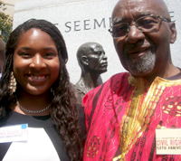 Communication junior Nadajalah Bennett (left) poses with original Freedom Rider John Moody. (Photo contributed)