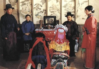 The traditional Chinese incorporation of the bride into the bridegroom's family