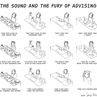 The sound and fury of advising