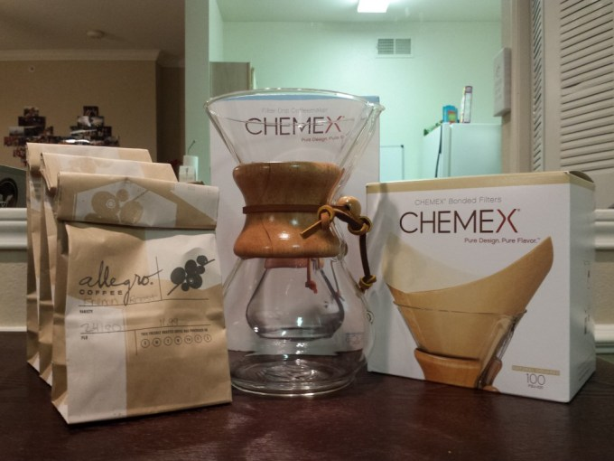 A Chemex is a science equipment-like coffee brewer that produces a very different, very pure cup of coffee.