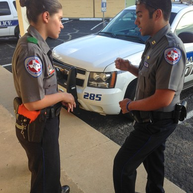 Student receives honor for police volunteer work