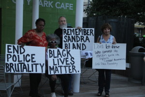 Diane Ragsdale (far left), a former Dallas City Council member, said marches and protests can help deliver the message and create the change that is necessary to eliminate police brutality.