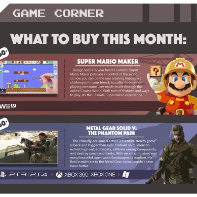 Game Corner: What to buy this month