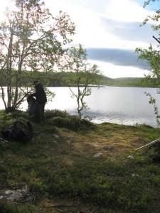 Tältplats vid Gistojávrátj