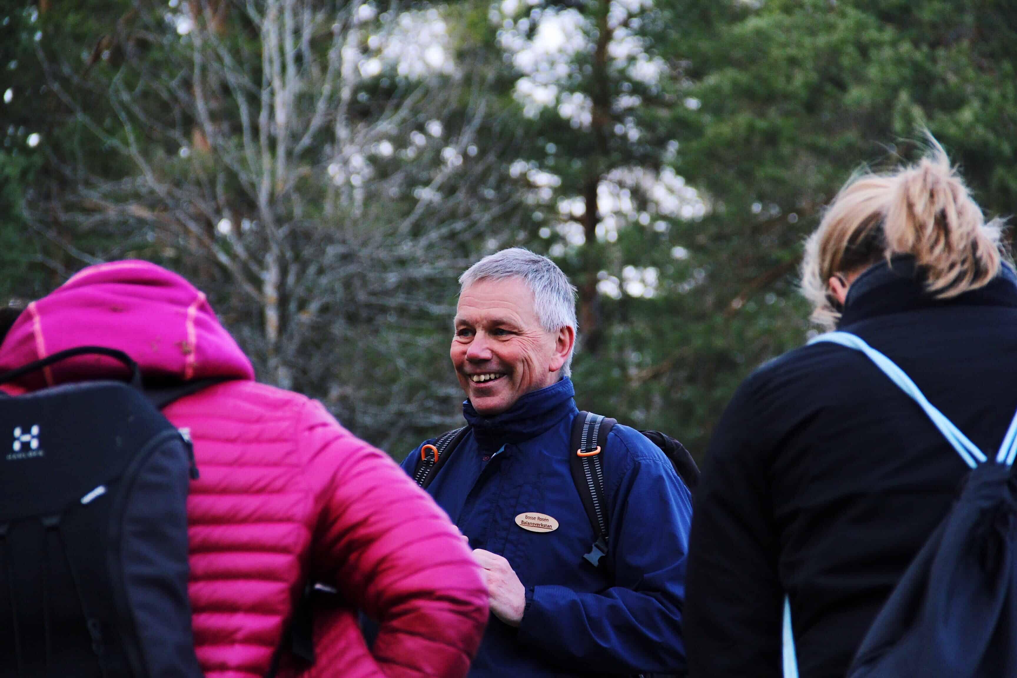 Bosse Rosén guidar till välbefinnande i naturen