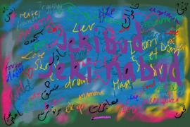 Flerspråklig tekstsamling med dikt og andre korte tekster. Dari, pashto, norsk