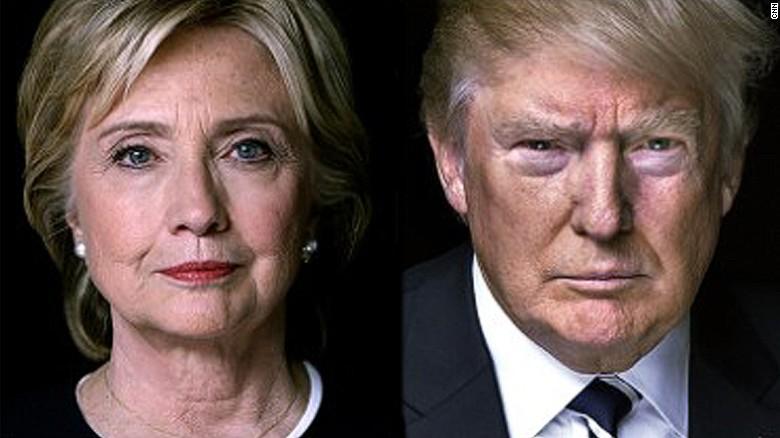 Resultado de imagen para Fotos de hillary y trump