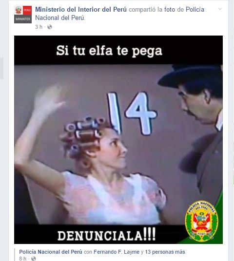 """Ojo en el """"DENÚNCIALA!!!""""."""