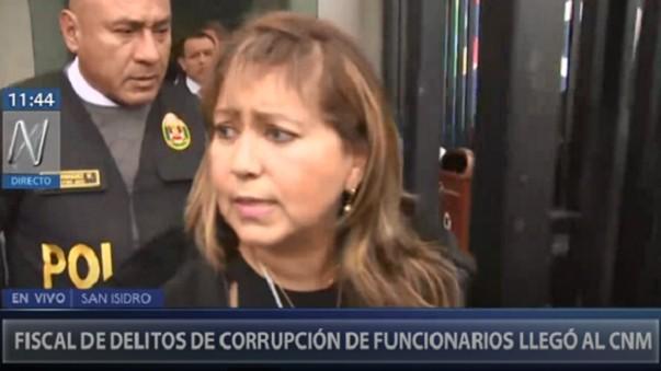 Fiscal Nora Córdova. Imagen: Captura web Canal N