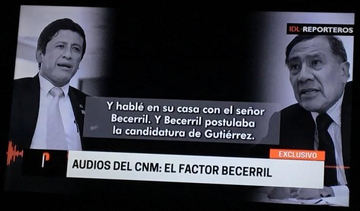 Aguila y Gutierrez fueron grabados confirmando la reunión con Becerril.