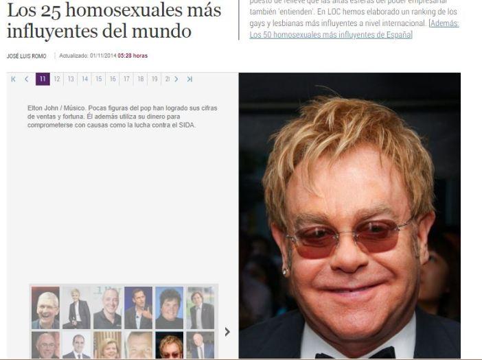 """¿Adivina qué, hermanón? Se puede ser """"exitoso"""" y homosexual al mismo tiempo. Imagen: El Mundo"""