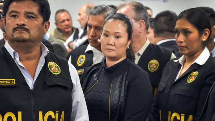 Keiko tras determinarse que cumplirá 36 meses de prisión preventiva. Foto: La Vanguardia