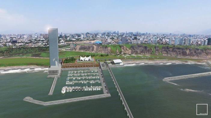 El espigón es lo que permite que los cruceros lleguen a la costa sin sufrir por las olas. Foto: Ve-Mas.com