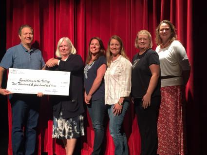 NUTS Presenting Check to Symphony In the Valley