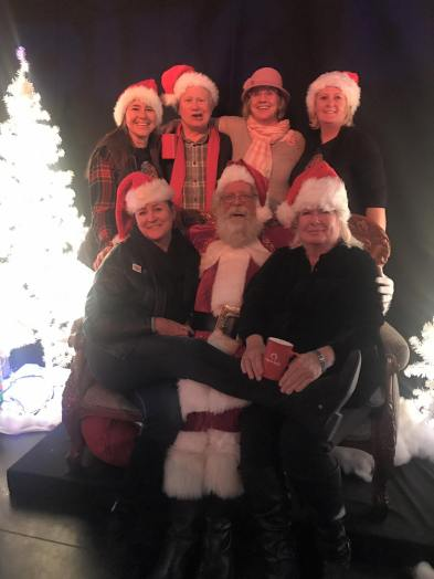 New Ute Theater Society Members with Santa 2018