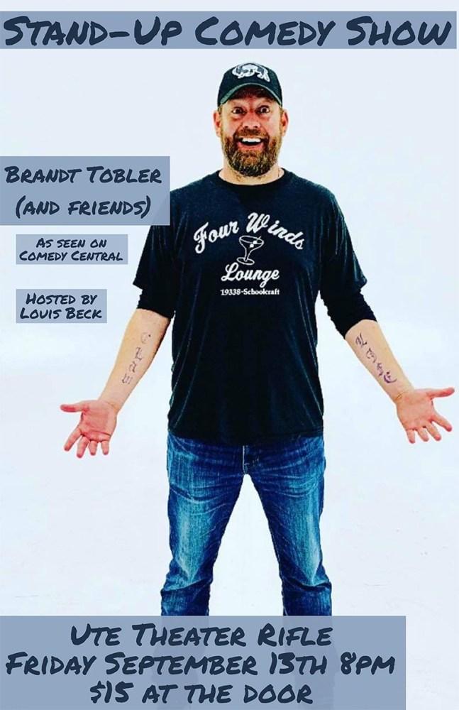 September Comedy with Brandt Tobler