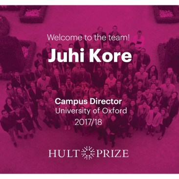 Juhi's Hult Prize Team at Oxford
