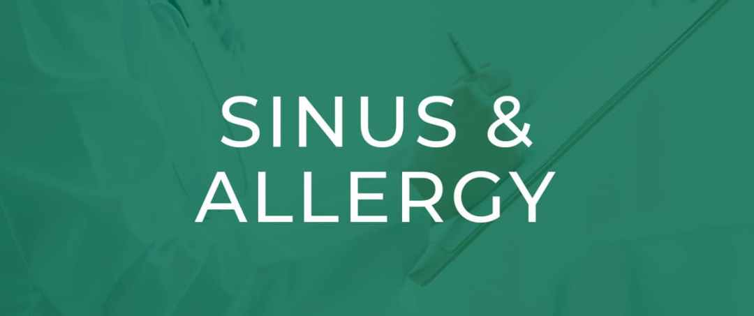 UTHSC - Issues Buttons - Sinus and Allergy