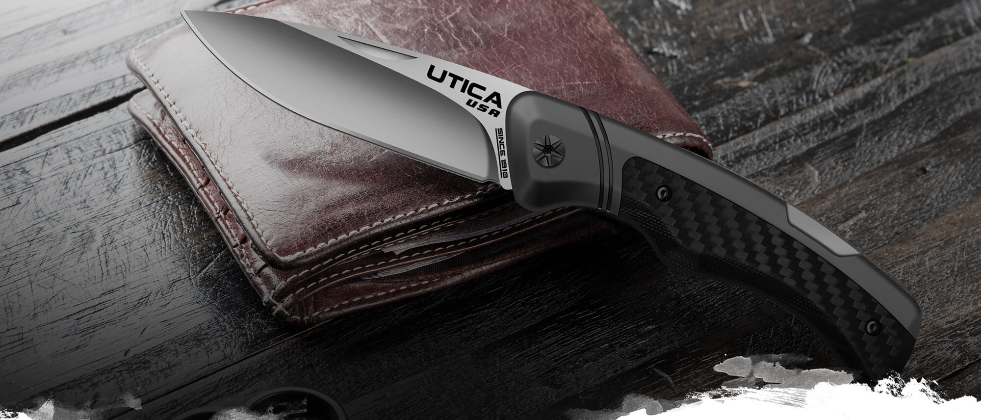 pocketknives folding knives - everyday carry knives by Utica USA