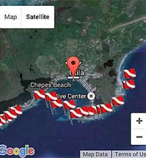 Utila Dive Map