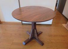 無垢 丸テーブル1本脚