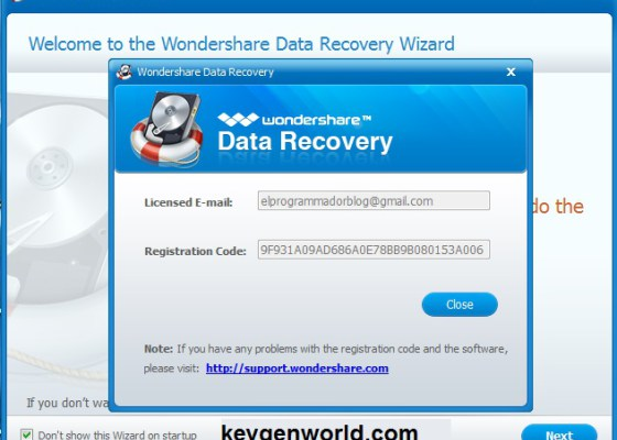 Wondershare-Data Recovery Registration Code