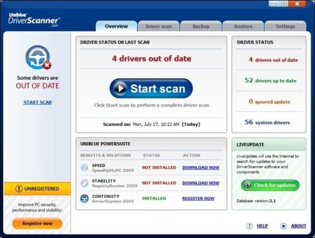 Uniblue DriverScanner Carck Serial Key