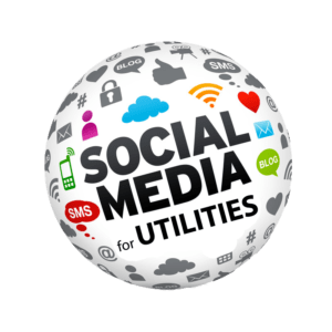 Social Media for Utilities Globe shaped logo