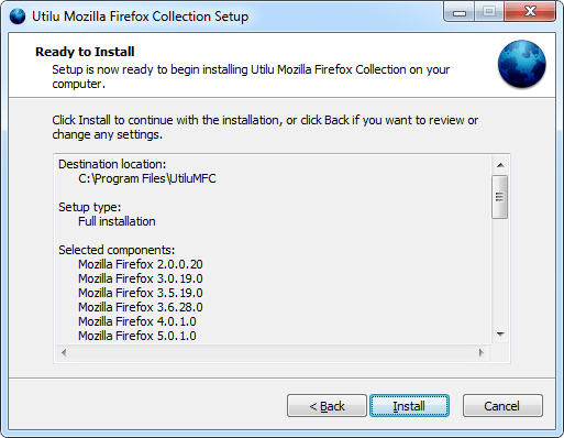 Utilu Mozilla Firefox Collection Setup: Ready to Install