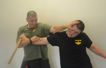 Mark Messare demonstrating Krav Maga
