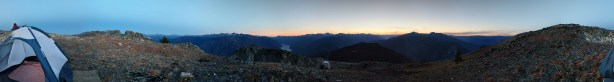 Panoramic of Sunset on the Lonely Mountain