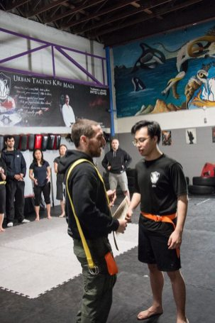 Karch getting his orange belt