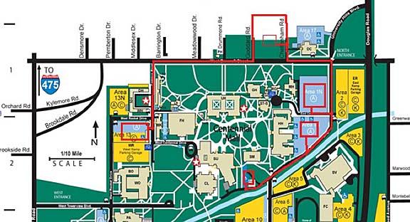 Toledo University University Hall Map