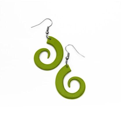 Pendientes Espiral verdes