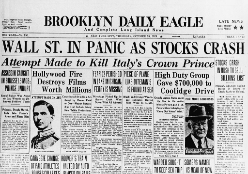 Great Crash 1929 history of short selling